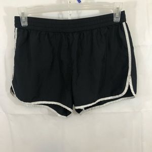 Old Navy black white trim running shorts